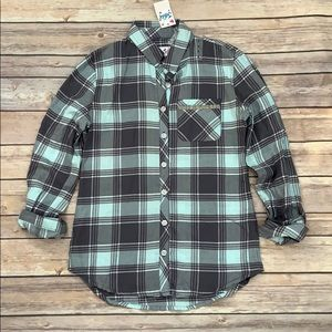 NWT Justice Plaid Top